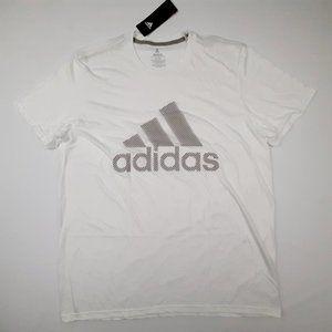 Adidas The Go To Tee Mens T-Shirt Size XL White Po